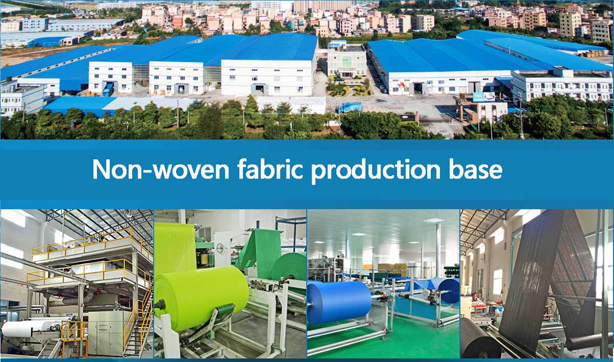 Non-woven fabric production base
